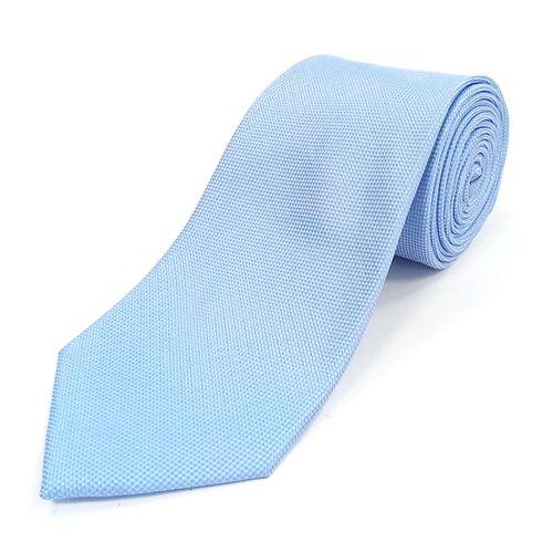 Corbata sólida textura para caballero blue