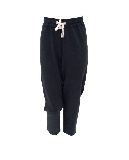 Pantalón jogger sólido negro