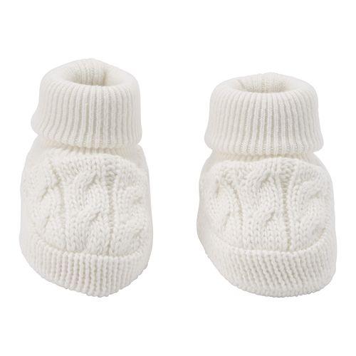 Zapatitos de crochet blancos