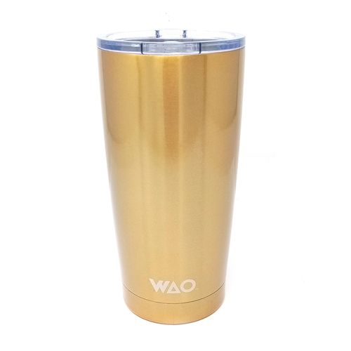 Vaso termico 20 oz insulado doble pared dark gold