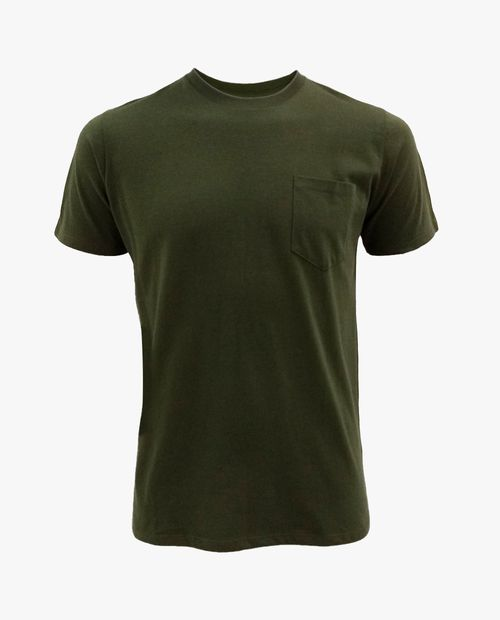 Camiseta básica olivo
