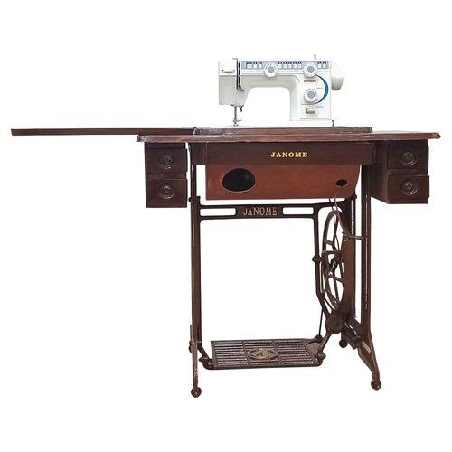 Máquina de coser eléctrica con mueble 23 puntadas