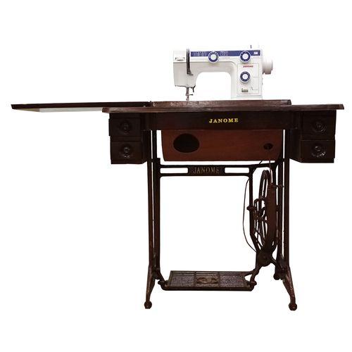 Máquina de coser eléctrica con mueble 11 puntadas