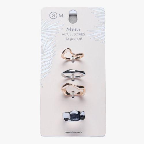 Set anillos metales