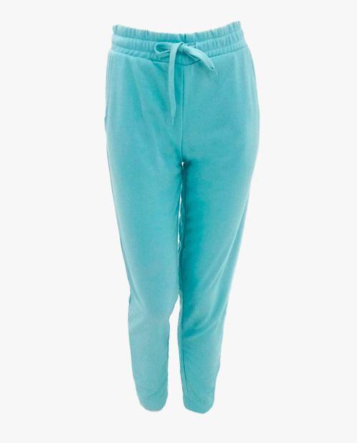 Pantalón jogger sólido azul claro
