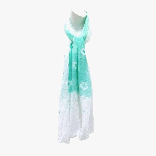 Bufanda color verde pashmina para dama