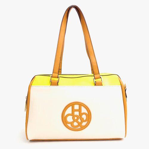Cartera satchel H&Co color amarillo para dama