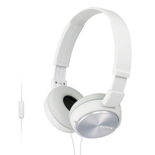 Audífono con micrófono blancos