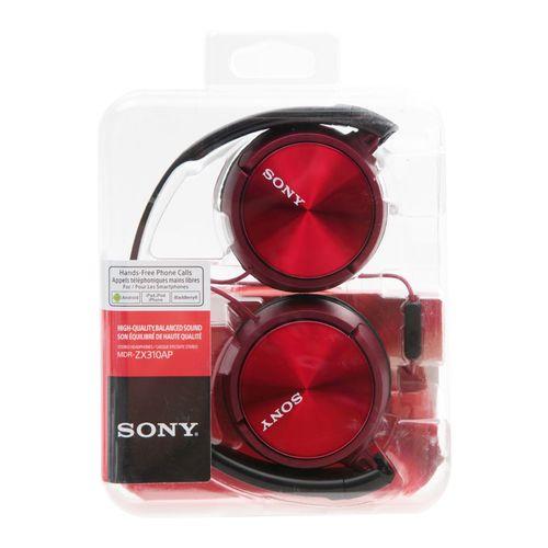 Audífono con micrófono rojos