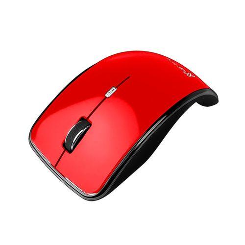 Mouse kurve óptico inalambrico rojo