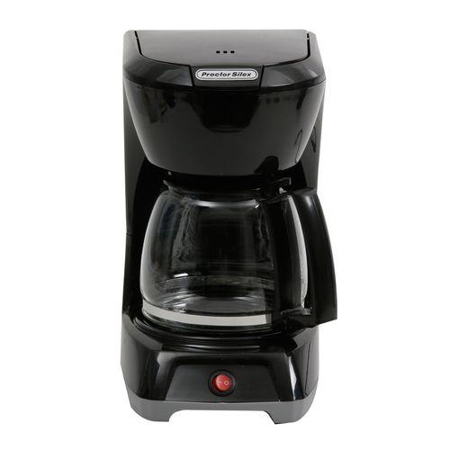 Cafetera negra encendido y apagado proctor silex