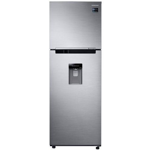 Refrigeradora 12 PCU con dispensador gris