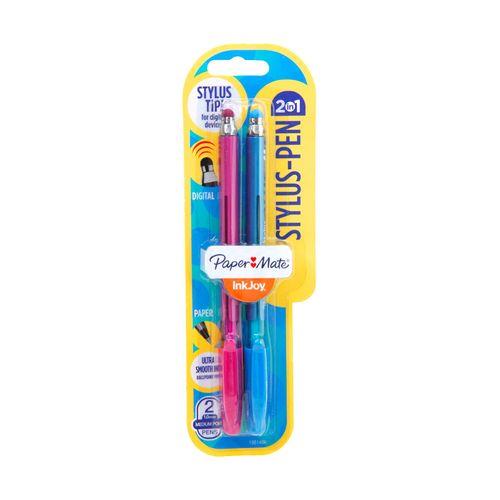 Blíster 2 Bolígrafos Stylus Colores