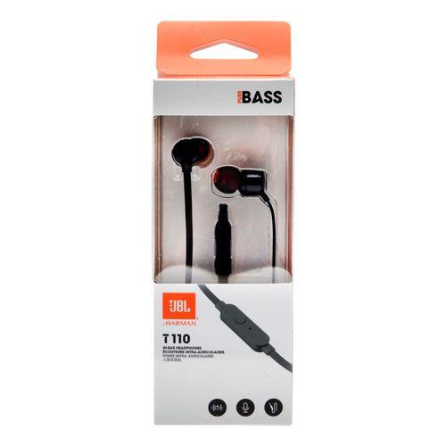Audífono in ear con micrófono y cable flat negros
