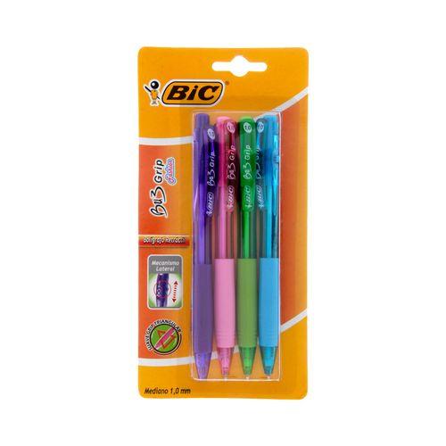 Blíster 4 bolígrafos