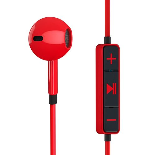 Audifonos con control de volumen rojos