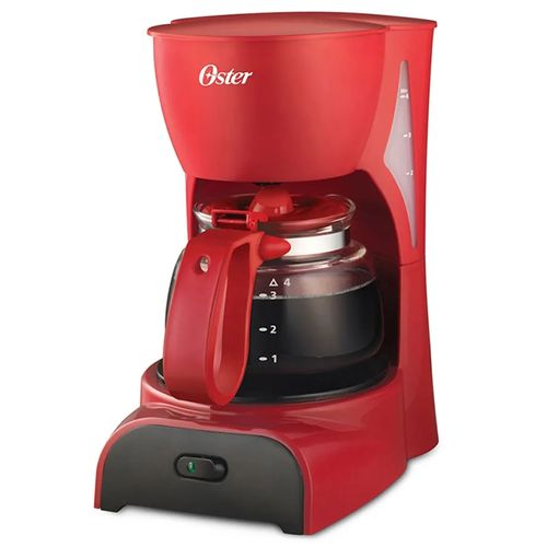 Cafetera 4 tazas con filtro permanente roja