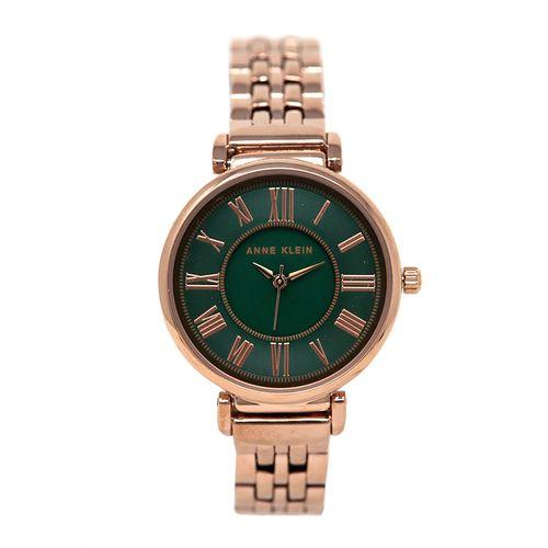 Reloj análogo metálico dorado rosa para dama