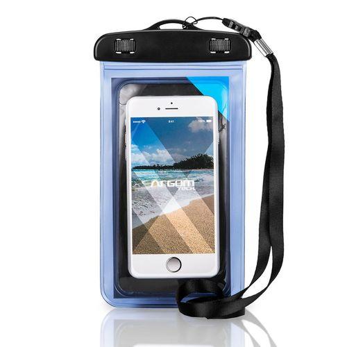 Brazalete para celular contra agua argom azul