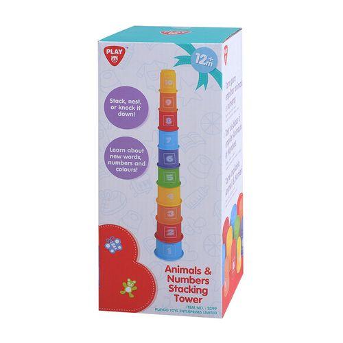 Torre apilable de números y animales