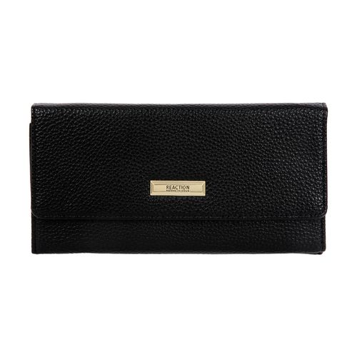 Billetera negra flap zafiano