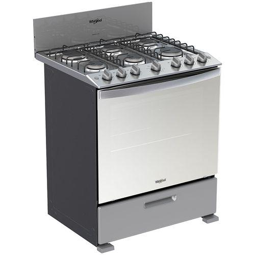 Cocina a gas whirlpool 30 gris