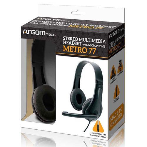 Audífono estéreo con micrófono y control de volumen