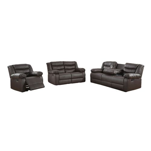 Sala 3-2-1 reclinable negro
