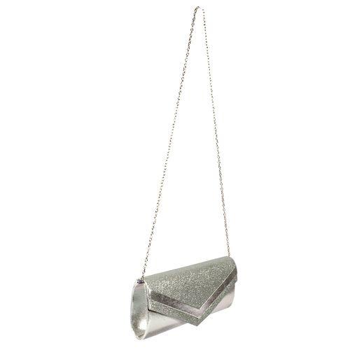 Cartera clutch plata