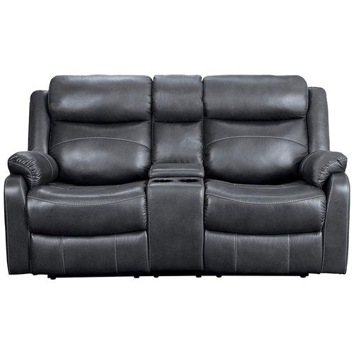 Love seat reclinable con consola gris