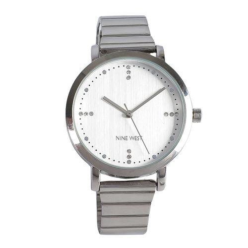 Reloj análogo metálico plata