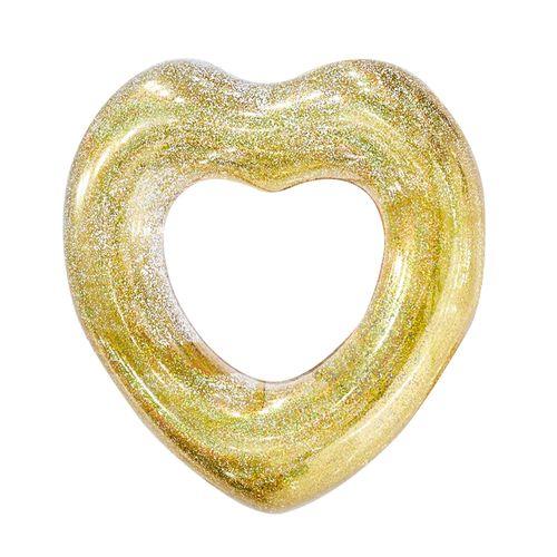 Flotadores corazon con glitter