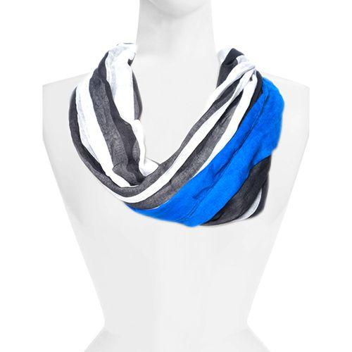 Bufanda azul estampada