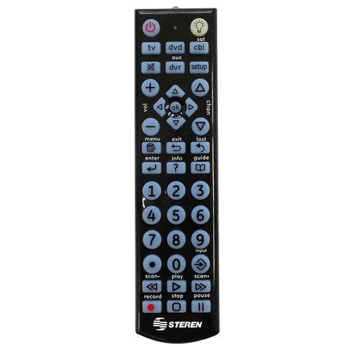 Control remoto universal multifunción con iluminación