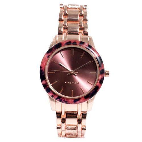 Reloj análogo metálico oro rosa