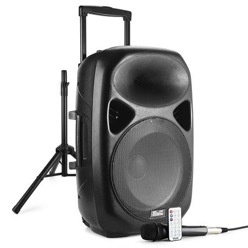 Bocina de altoparlantes  bluetooth  con pedestal y micrófono