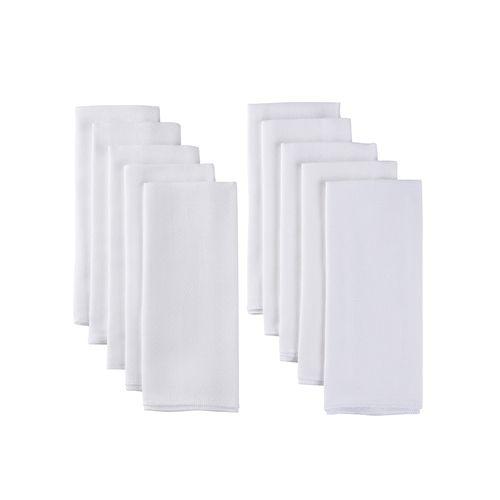 10pk pañales de tela blanco