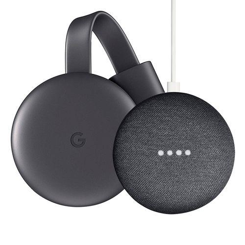 Bundle pack google home mini + chromecast