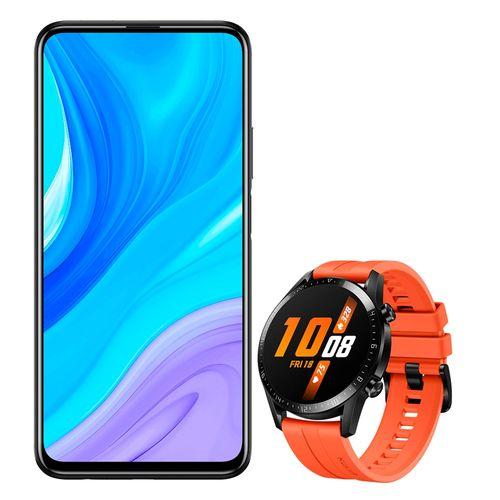 Bundle pack  Huawei y9s 2019 negro + gt 2 orange