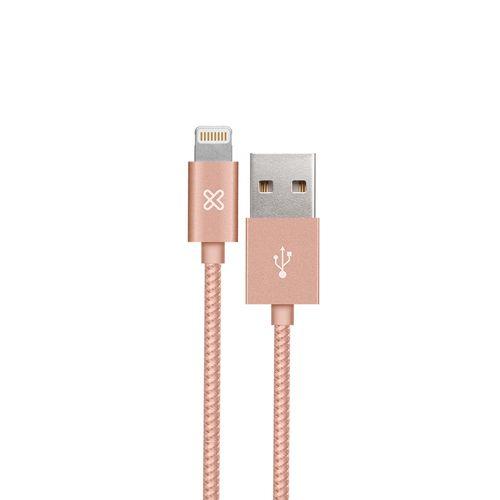 Cable apple usb dorado rosa 1m
