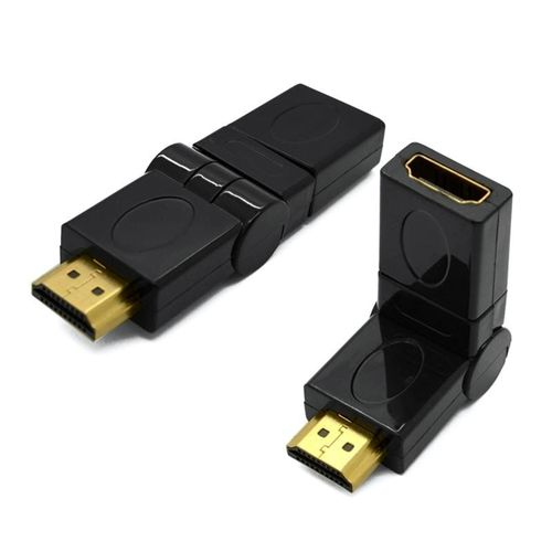 Adaptador HDMI macho con ángulo ajustable