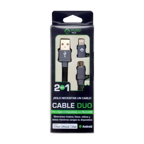 Cable Lightning Micro 2 en 1