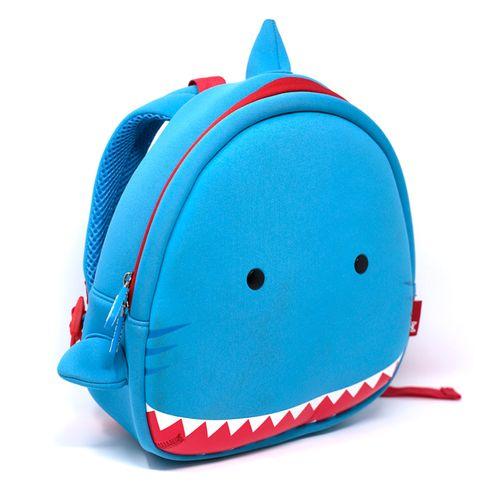 Mochila de niño estilo tiburon azul