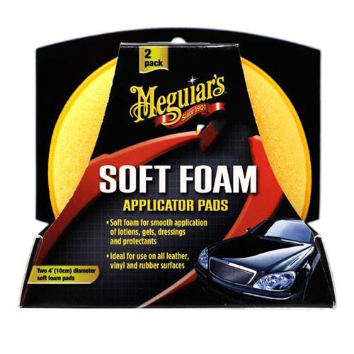 Esponjas de microfibra aplicadoras de cera y silicones. 2 esponjas.