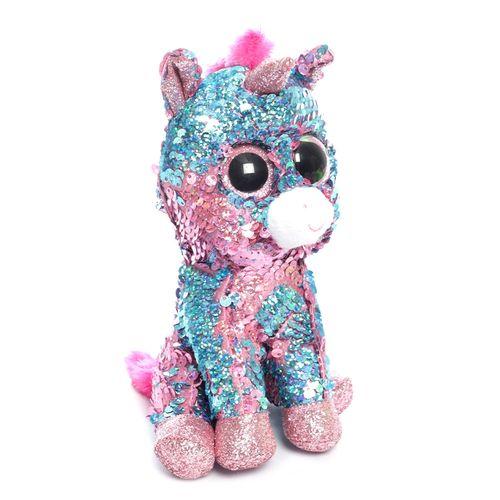 Ty flippables celeste unicornio azul/rosado regular