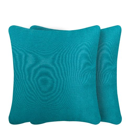 2pack cojín chenille teal