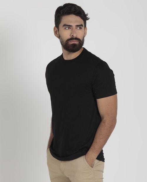 Camiseta cuello redondo negro