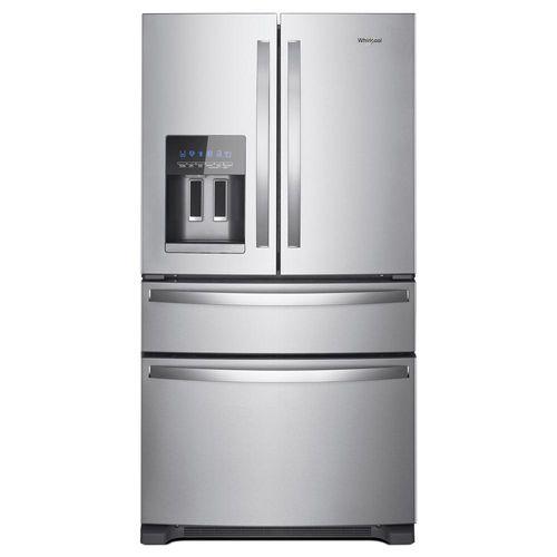 Refrigeradora 25 PCU puerta francesa Inox