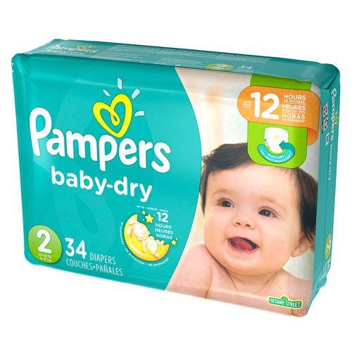 Pañales baby dry talla 2