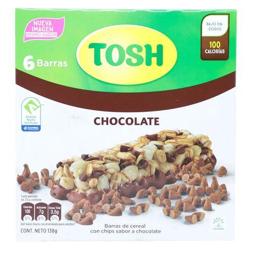 Barra de cereal con chocolate